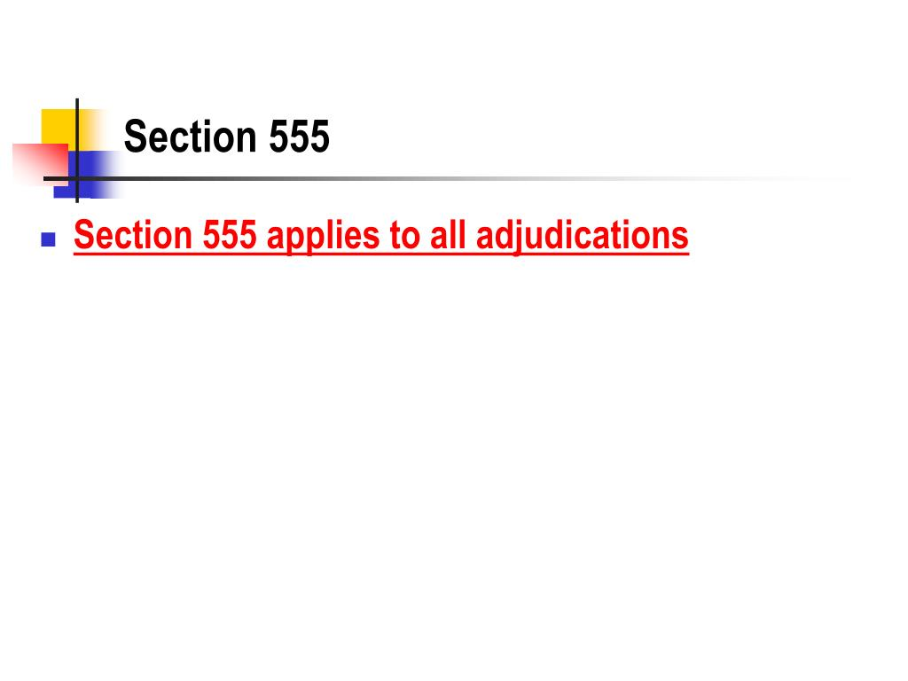 Section 555