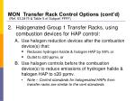 mon transfer rack control options cont d