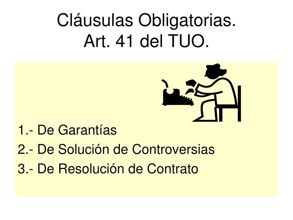 Cláusulas Obligatorias.