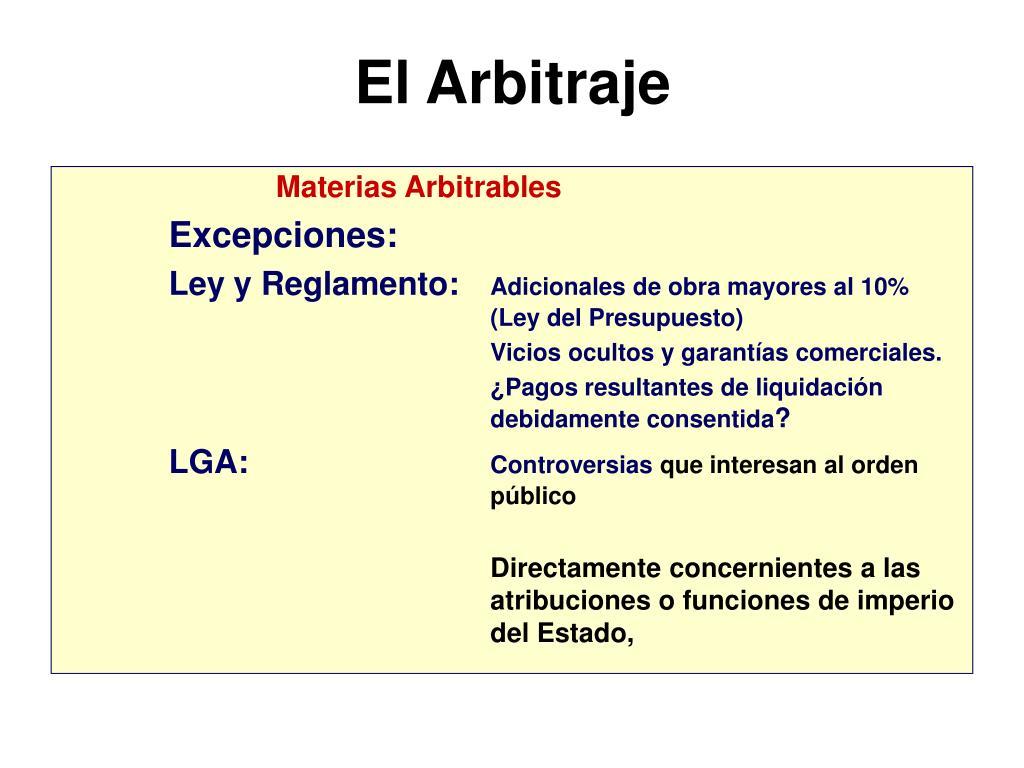 El Arbitraje