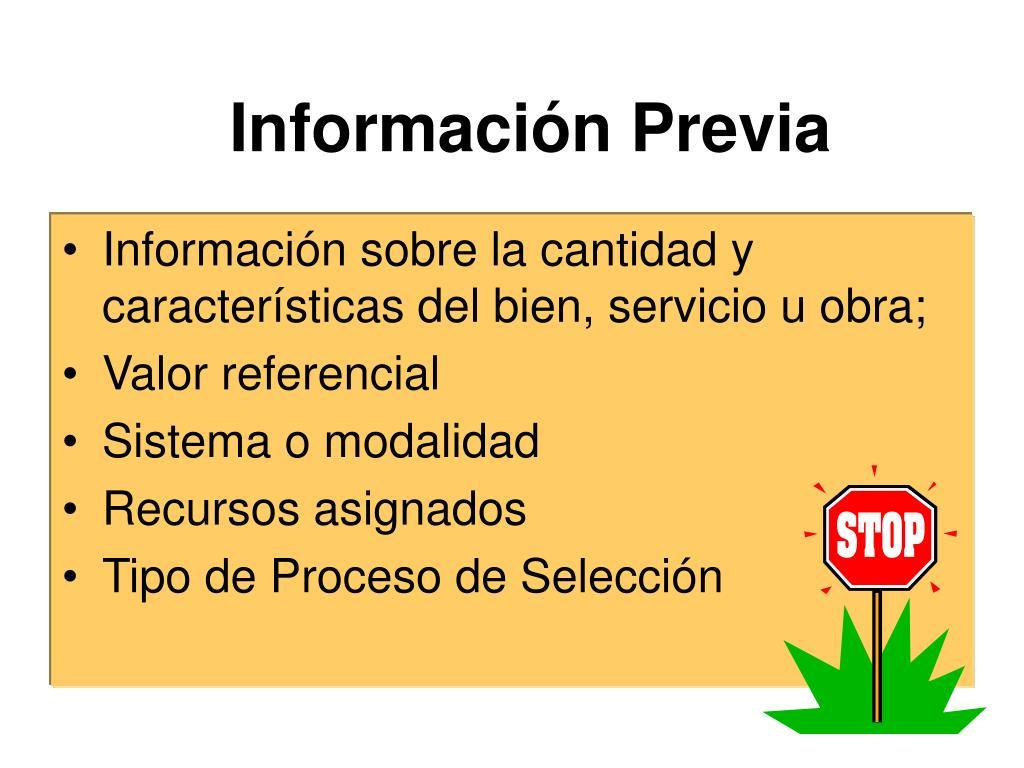 Información Previa