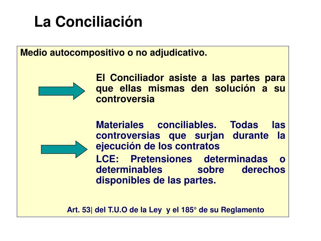 La Conciliación