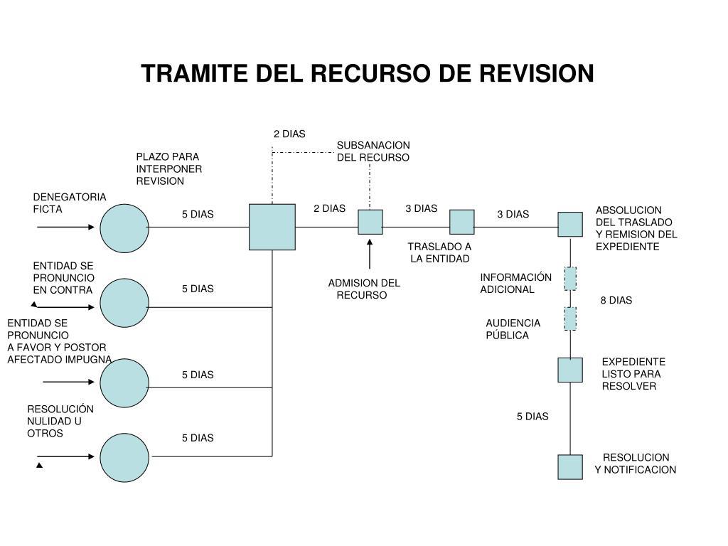 TRAMITE DEL RECURSO DE REVISION