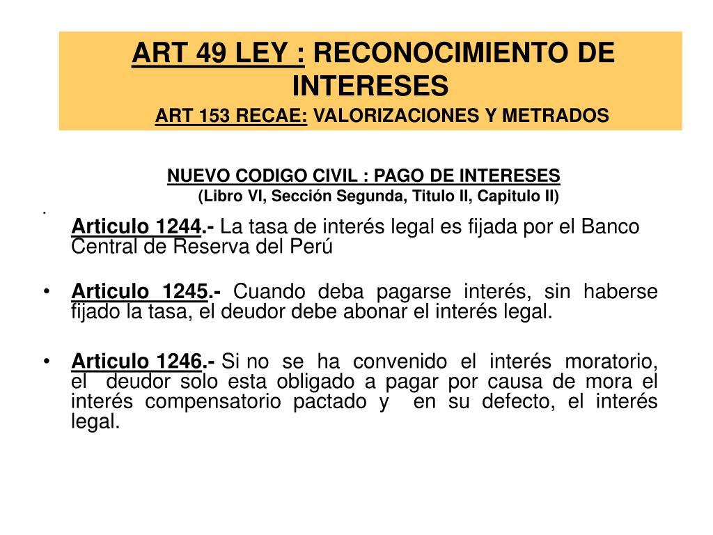 ART 49 LEY :