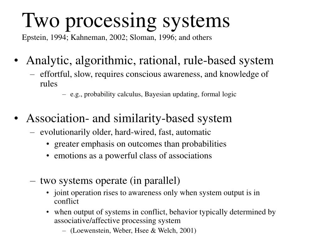 Two processing systems