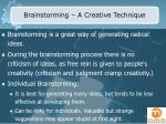 brainstorming a creative technique
