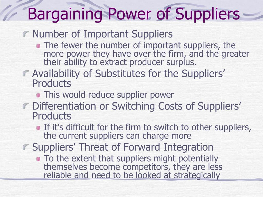 bargaining power of suppliers in eharmony