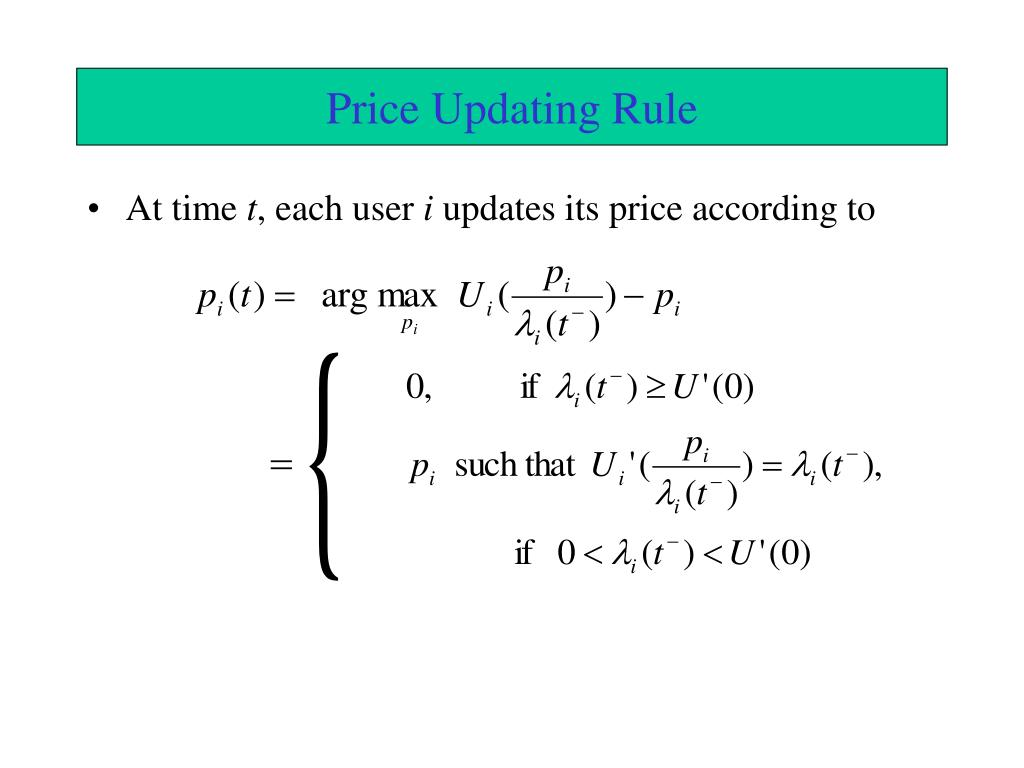 Price Updating Rule