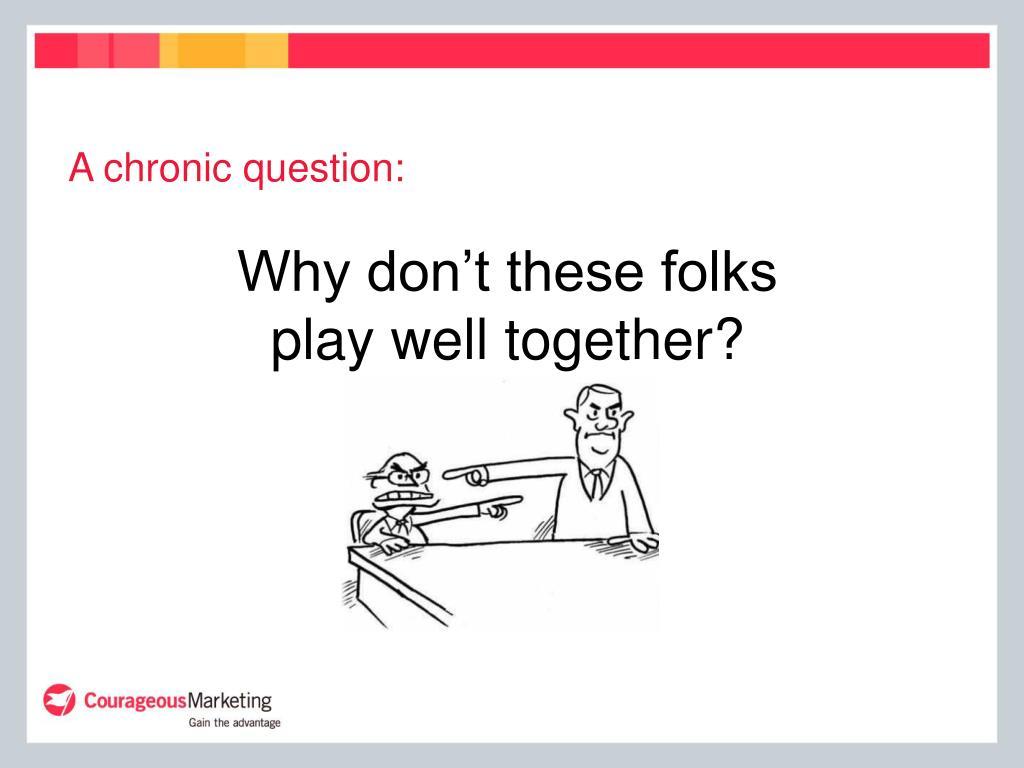 A chronic question: