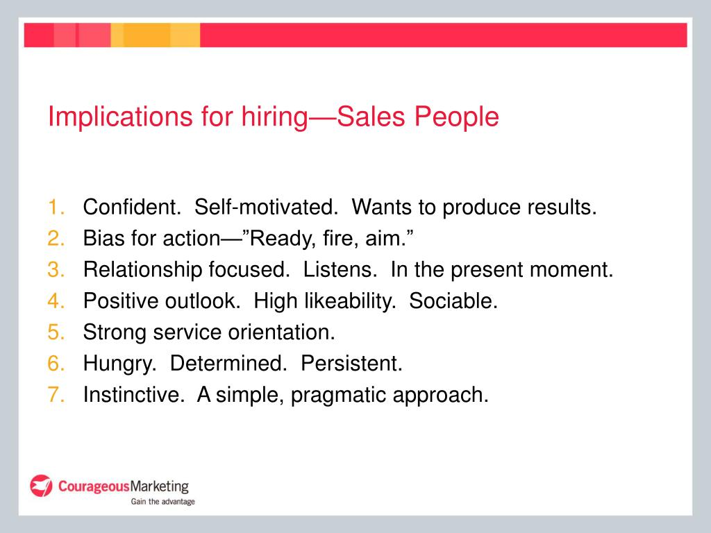 Implications for hiring