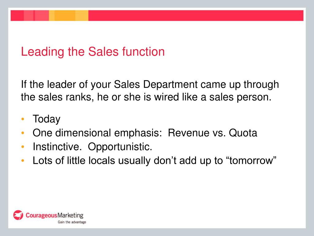 Leading the Sales function