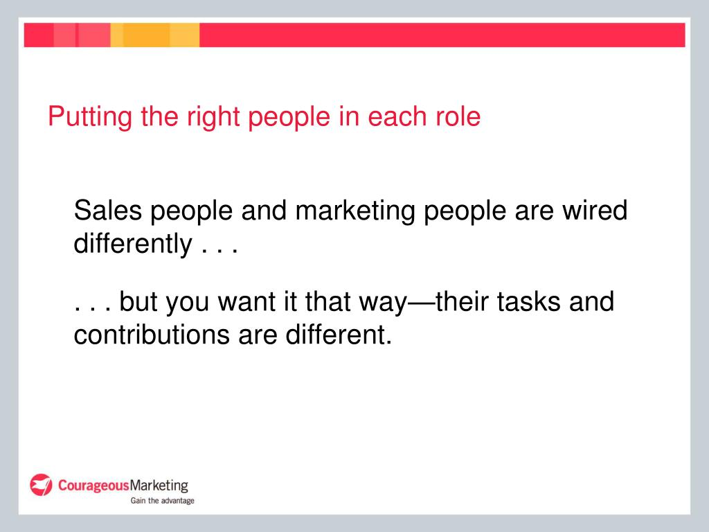 Putting the right people in each role