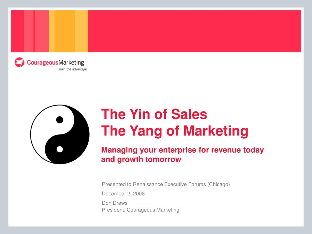 The Yin of Sales