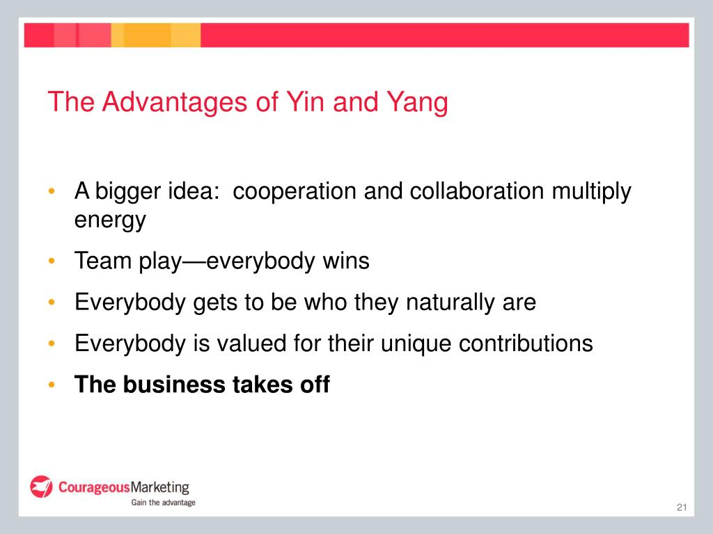 The Advantages of Yin and Yang