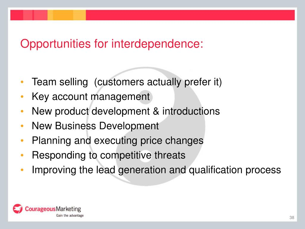 Opportunities for interdependence: