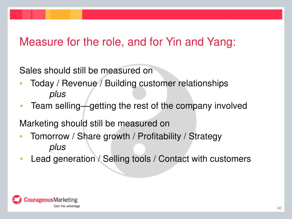 Measure for the role, and for Yin and Yang:
