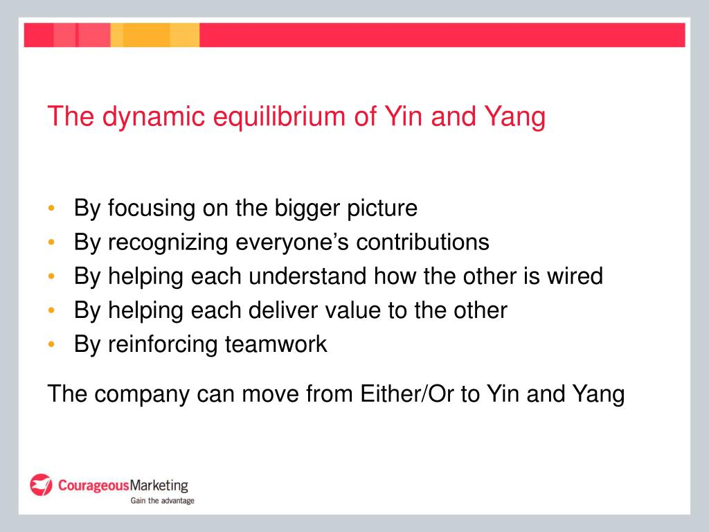 The dynamic equilibrium of Yin and Yang