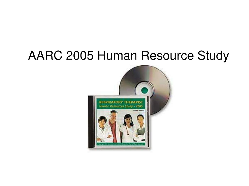AARC 2005 Human Resource Study