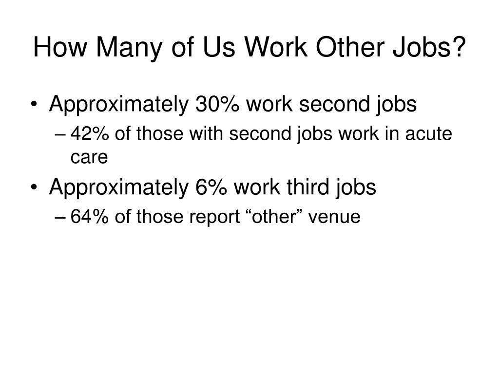 How Many of Us Work Other Jobs?
