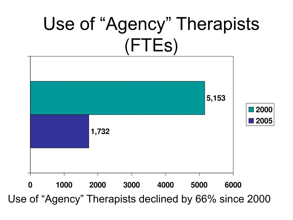 "Use of ""Agency"" Therapists (FTEs)"