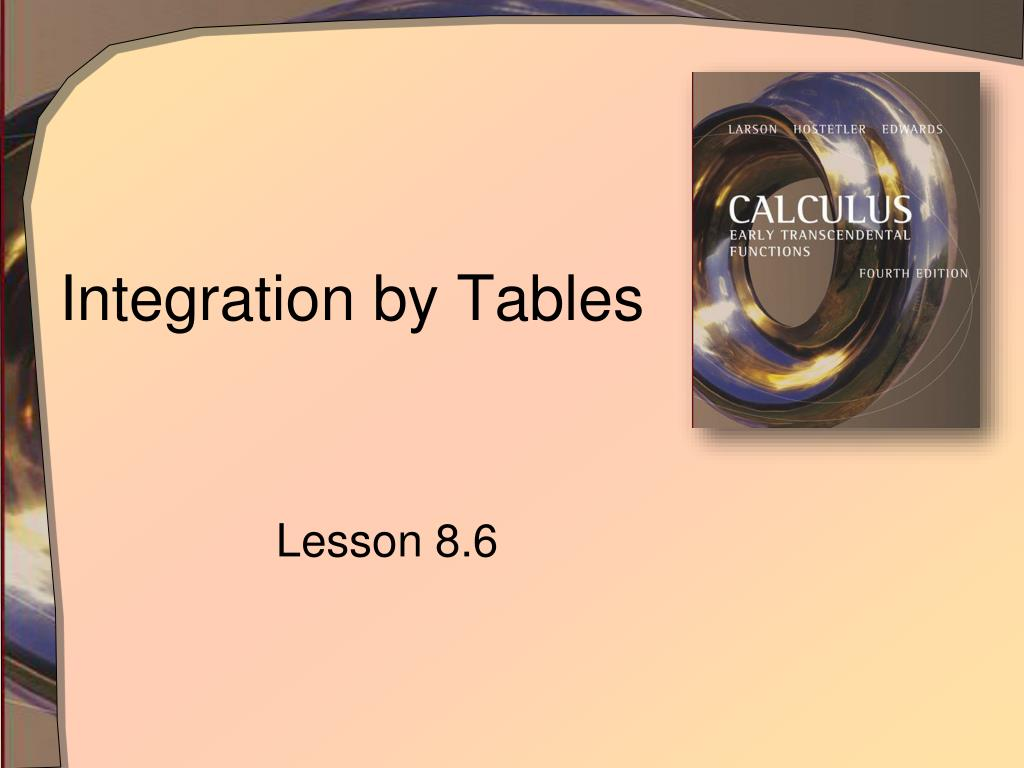integration by tables l.