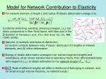 model for network contribution to elasticity