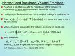 network and backbone volume fractions