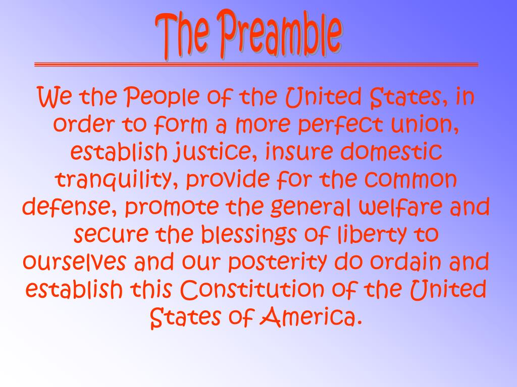 We the Peple of the United States,