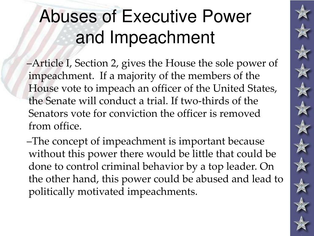 Abuses of Executive Power