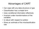 advantages of cart