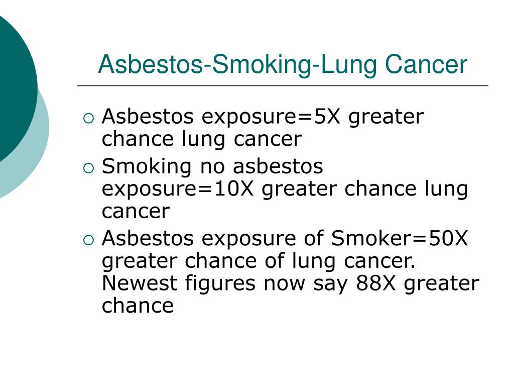 Asbestos-Smoking-Lung Cancer