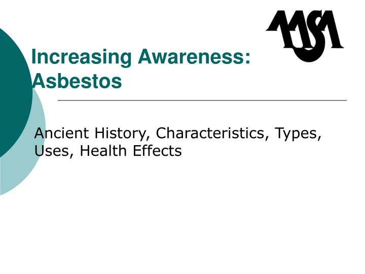 Increasing awareness asbestos