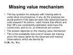 missing value mechanism