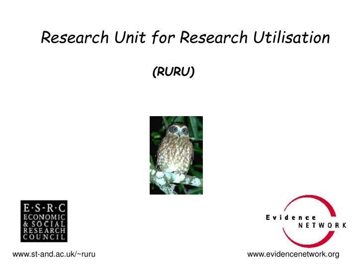 Research unit for research utilisation