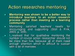 action researches mentoring