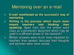 mentoring over an e mail