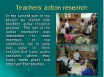 teachers action research