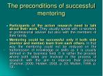 the preconditions of successful mentoring