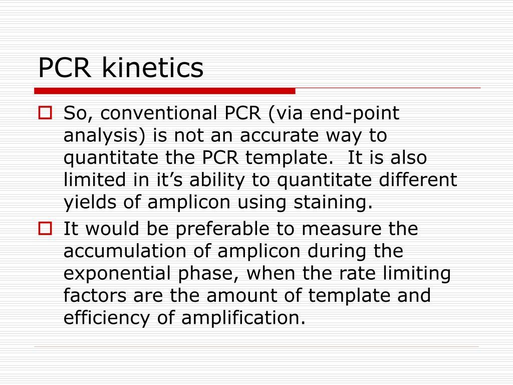 PCR kinetics