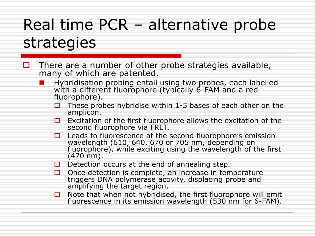 Real time PCR – alternative probe strategies