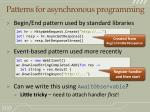 patterns for asynchronous programming