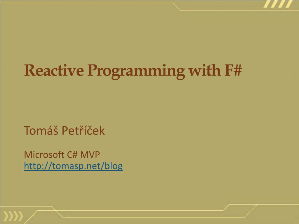 reactive programming with f l.