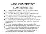 aids competent communities