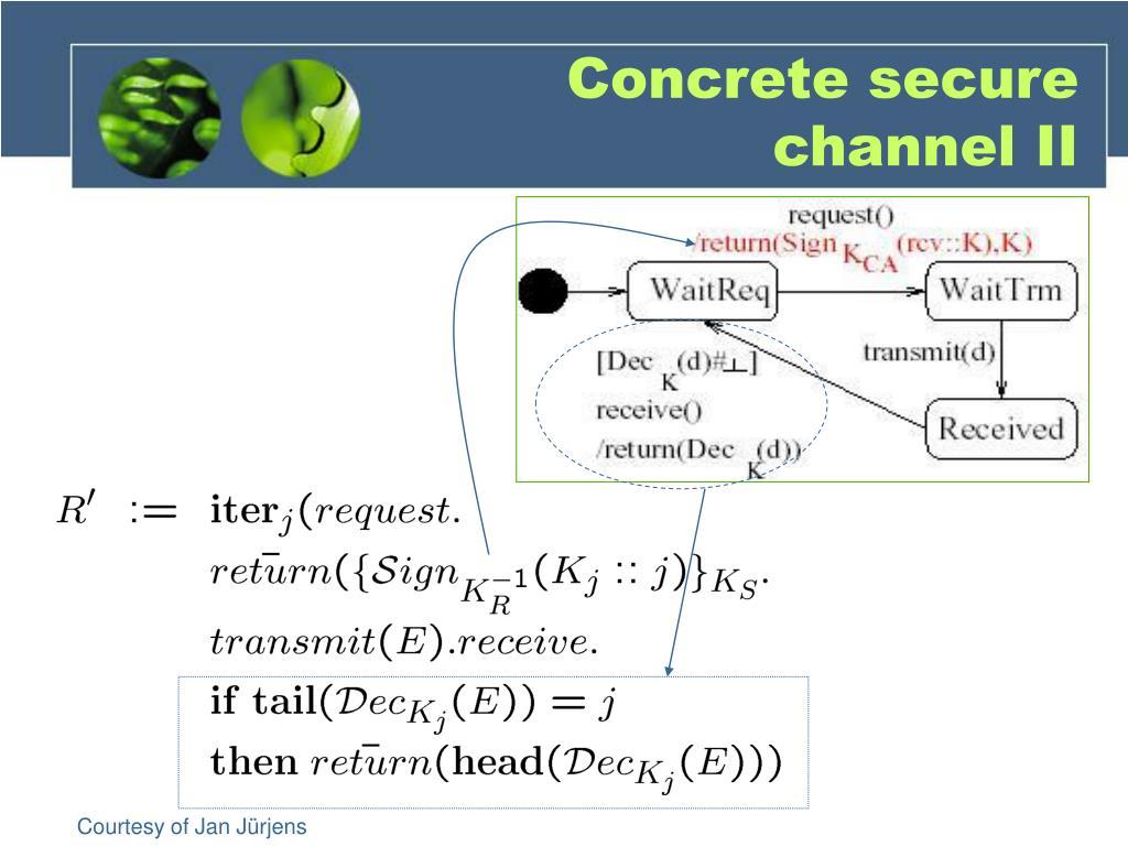 Concrete secure channel II