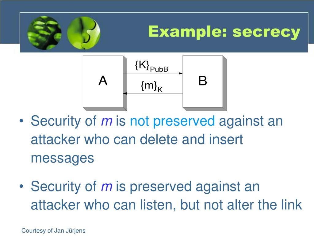 Example: secrecy