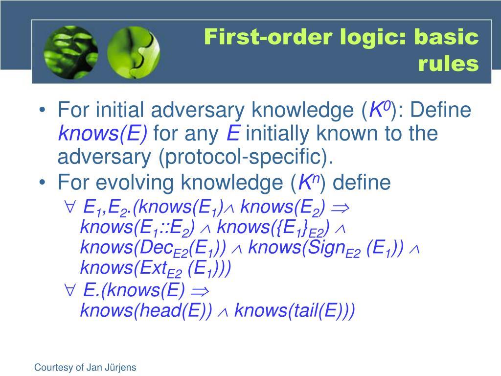 First-order logic: basic rules