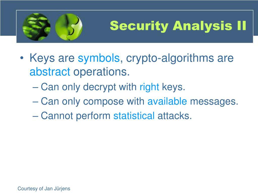 Security Analysis II