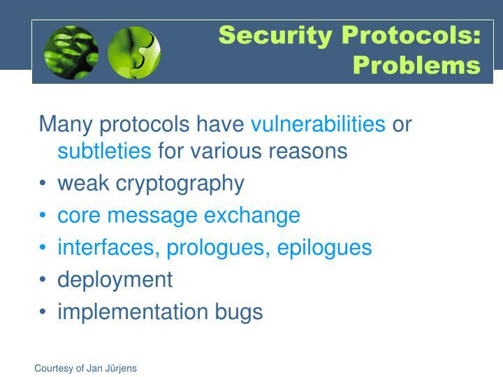 Security protocols problems