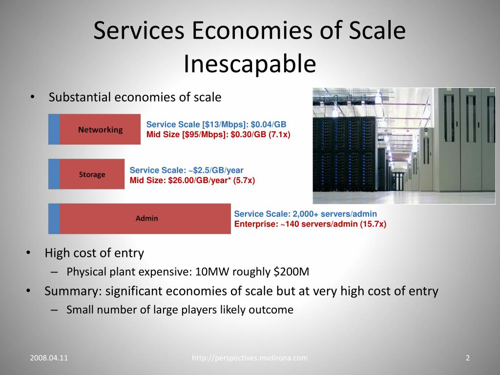 Services Economies of Scale Inescapable