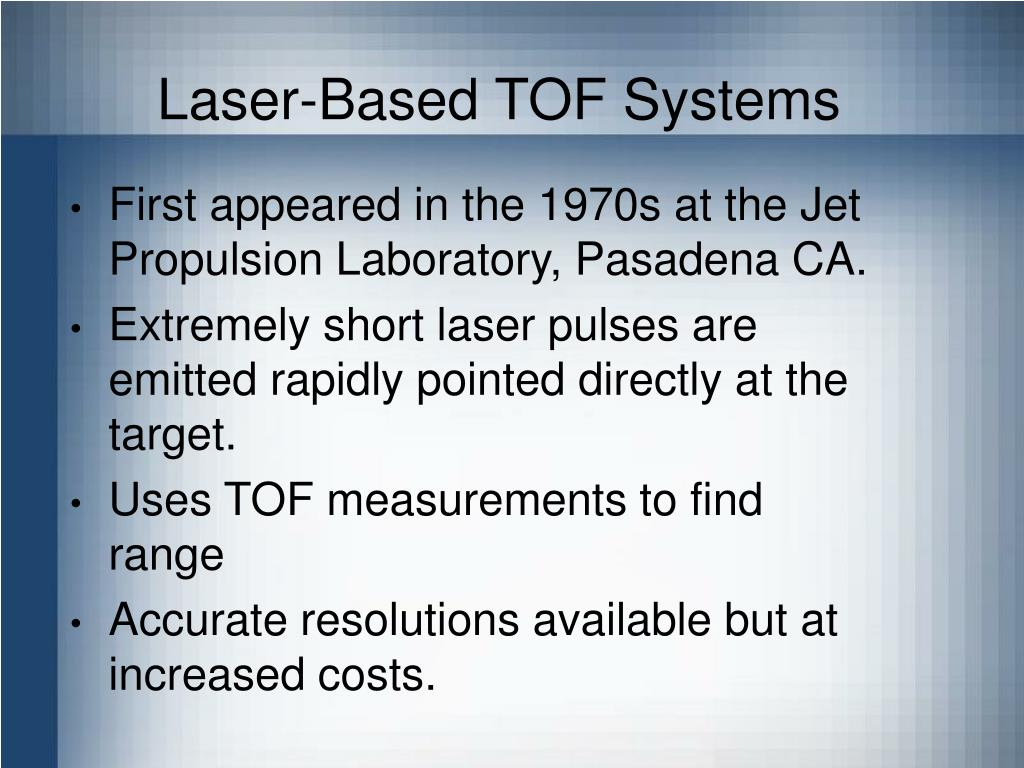 Laser-Based TOF Systems